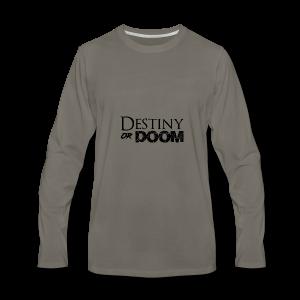 Destiny or Doom Black Logo - Men's Premium Long Sleeve T-Shirt