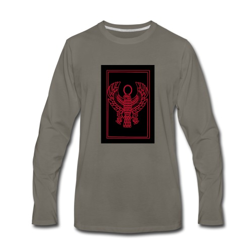 Heru- Horus (Ancient Mystery School KMT) - Men's Premium Long Sleeve T-Shirt