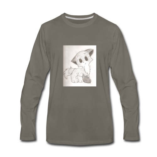 Adorable Drawing Of Anime Fox - Men's Premium Long Sleeve T-Shirt