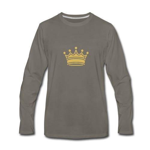 86345757b9d3fa46a0c517bc413fc34e crown clip art tr - Men's Premium Long Sleeve T-Shirt