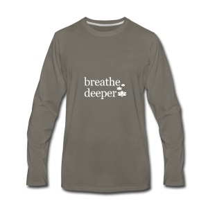 Breathe Deeper Lotus - Men's Premium Long Sleeve T-Shirt