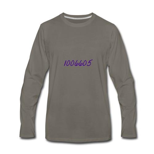 Logo Writing - Men's Premium Long Sleeve T-Shirt