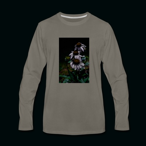 Flowers and Bee - Men's Premium Long Sleeve T-Shirt