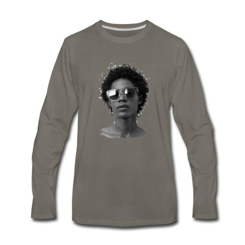 Black and white - Men's Premium Long Sleeve T-Shirt