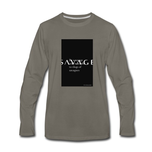 Subscribe to savage mide - Men's Premium Long Sleeve T-Shirt