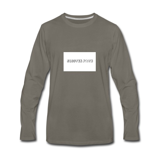 scooter path - Men's Premium Long Sleeve T-Shirt