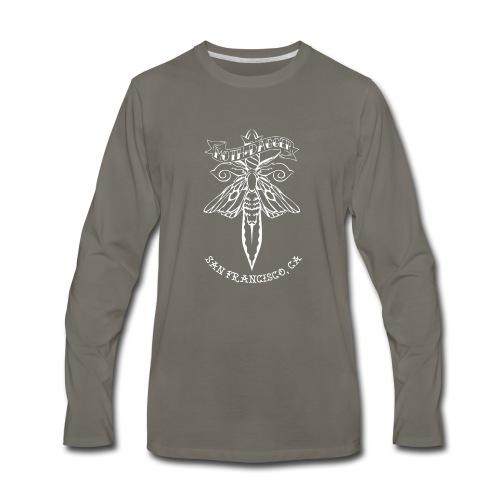 Moth and Dagger Logo - Men's Premium Long Sleeve T-Shirt
