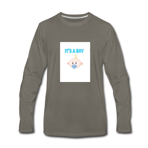 It-s_a_boy_tshirt - Men's Premium Long Sleeve T-Shirt