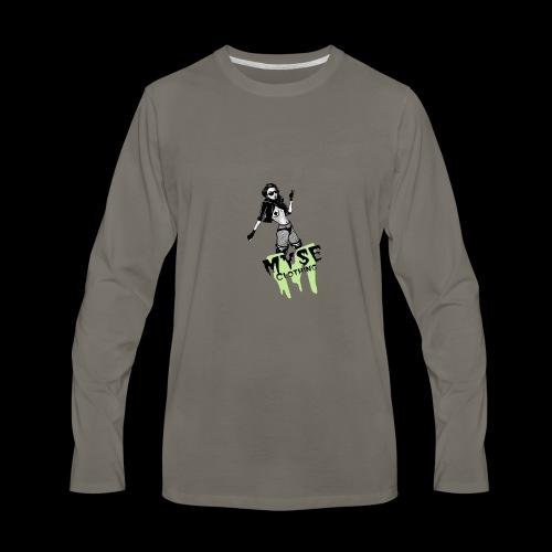 MYSE Clothing - badass babe - Men's Premium Long Sleeve T-Shirt