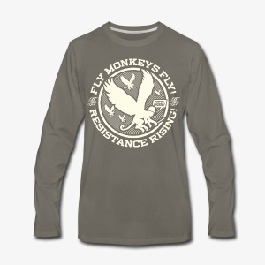 Johnny Cirucci Flying Monkey Squad: emblem 02 - Men's Premium Long Sleeve T-Shirt