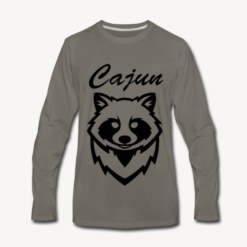 see throw cajun coon icon - Men's Premium Long Sleeve T-Shirt