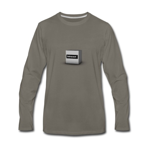 Box Logo - Men's Premium Long Sleeve T-Shirt