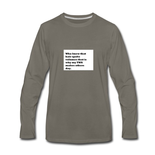 1 TWA TWA - Men's Premium Long Sleeve T-Shirt