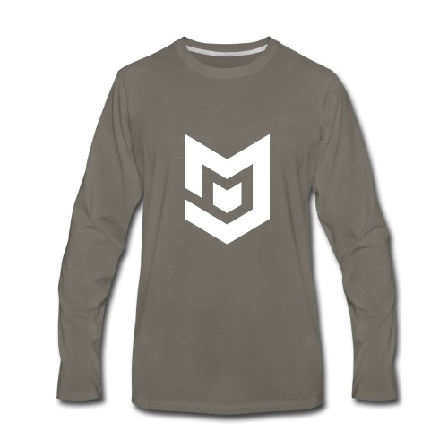 White Logo - Men's Premium Long Sleeve T-Shirt