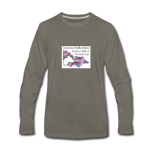 ASTCV Logo Colour on White - Men's Premium Long Sleeve T-Shirt