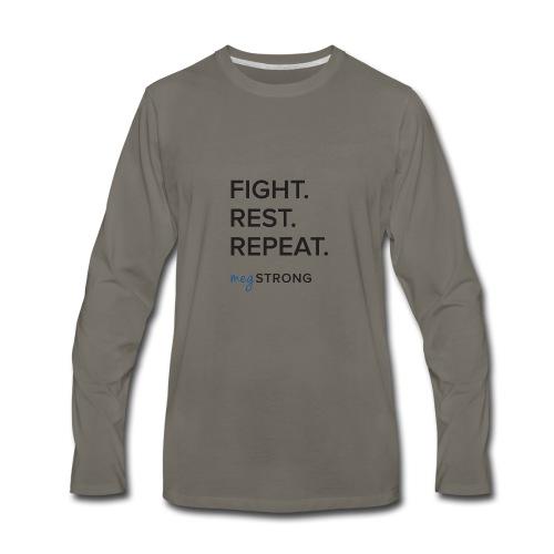 Fight Rest Repeat - Men's Premium Long Sleeve T-Shirt