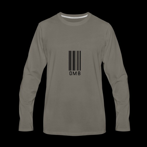 Omb-barcode - Men's Premium Long Sleeve T-Shirt