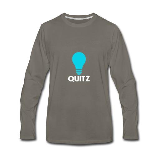 Quitz Blue w/ white text - Men's Premium Long Sleeve T-Shirt