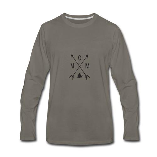 Mom Loves Coffee (black ink) - Men's Premium Long Sleeve T-Shirt