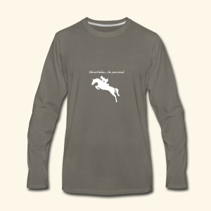 Nevertheless, she persisted (Jumper White) - Men's Premium Long Sleeve T-Shirt