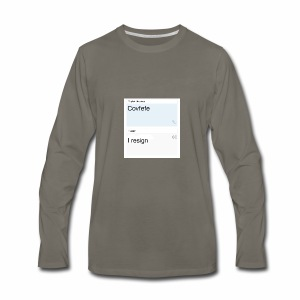 Covfefe translated to russian - Men's Premium Long Sleeve T-Shirt