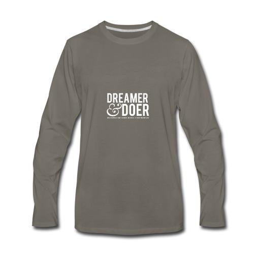 Wealth Weekly Dreamer and Doer Tee - Men's Premium Long Sleeve T-Shirt