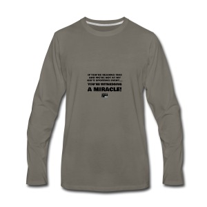 Witnessing A Miracle - Men's Premium Long Sleeve T-Shirt