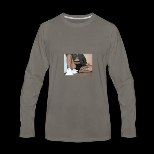 self modeled - Men's Premium Long Sleeve T-Shirt