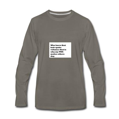 1 TWA TWA - Men's Premium Long Sleeve T-Shirt