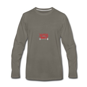 Crossfit Humanity Barbell - Red and White - Men's Premium Long Sleeve T-Shirt