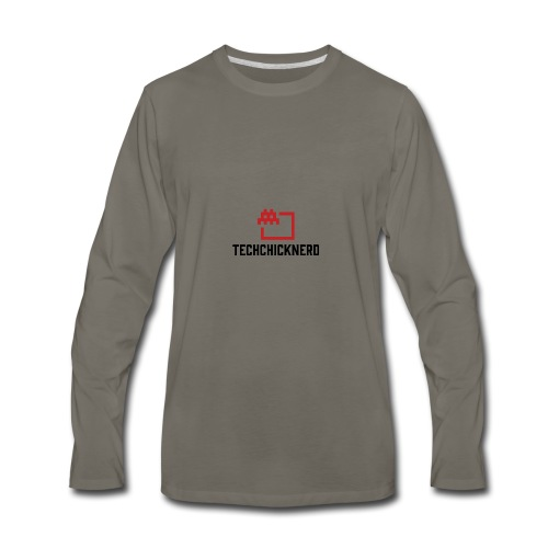 TechChick-Nerd logo #1 - Men's Premium Long Sleeve T-Shirt
