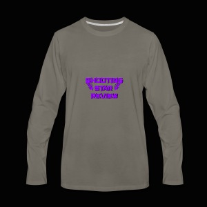 Shooting Star Review Purple Logo - Men's Premium Long Sleeve T-Shirt