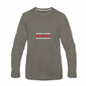 shenaniganswhite - Men's Premium Long Sleeve T-Shirt