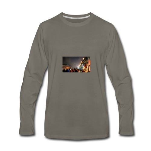 Marrakech at Night - Men's Premium Long Sleeve T-Shirt