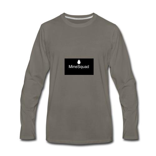 #MineSquad Thinking Logo - Men's Premium Long Sleeve T-Shirt