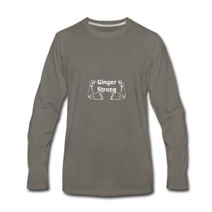 Ginger Strong White - Men's Premium Long Sleeve T-Shirt