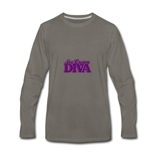 Ice Cream Diva 2 light shirts - Men's Premium Long Sleeve T-Shirt