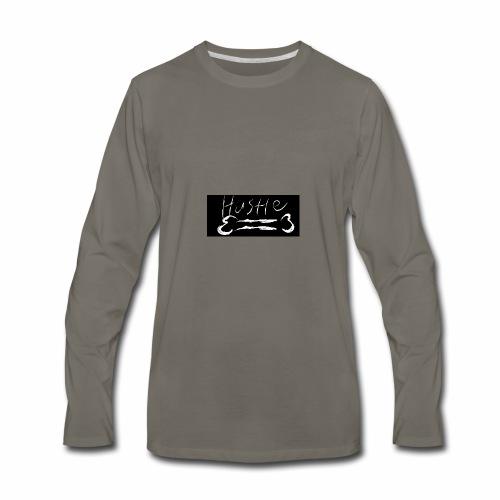 Hustle Bone Logo - Men's Premium Long Sleeve T-Shirt