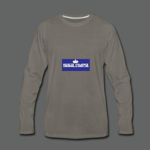 issahype_blue - Men's Premium Long Sleeve T-Shirt