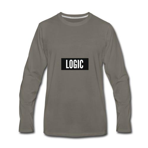 Logic Bold Logo - Men's Premium Long Sleeve T-Shirt