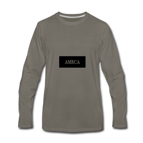 AMRCA Box Logo - Men's Premium Long Sleeve T-Shirt