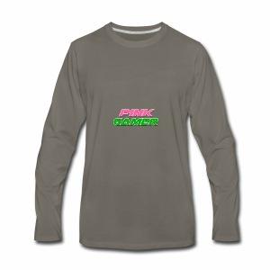 PINK Gamer Logo: Light Outline - Men's Premium Long Sleeve T-Shirt