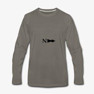 Narrow Logo Black - Men's Premium Long Sleeve T-Shirt