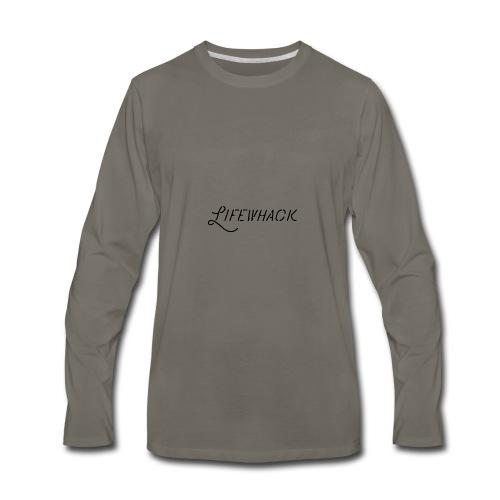 Black Lifewhack Logo Products - Men's Premium Long Sleeve T-Shirt