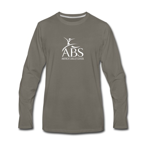 White ABS Logo Collection - Men's Premium Long Sleeve T-Shirt
