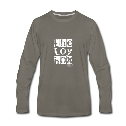 The Toy box Studio - White Logo - Men's Premium Long Sleeve T-Shirt