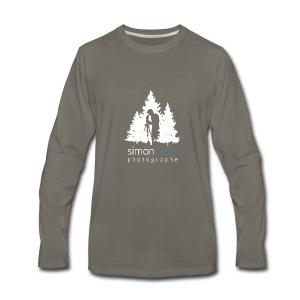 Logo Simon Lajoie Photographe Blanc - T-shirt Premium à manches longues pour hommes