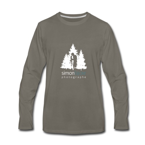 Logo Simon Lajoie Photographer White - Men's Premium Long Sleeve T-Shirt