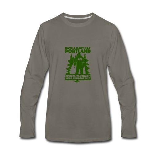 Have A Hart Day Portland - Button Pack - Men's Premium Long Sleeve T-Shirt