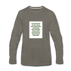 He_has_trouble_with_the_snap-1 - Men's Premium Long Sleeve T-Shirt